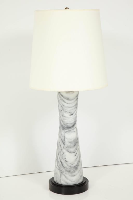 Mid-20th Century Grey Marble Table Lamp For Sale