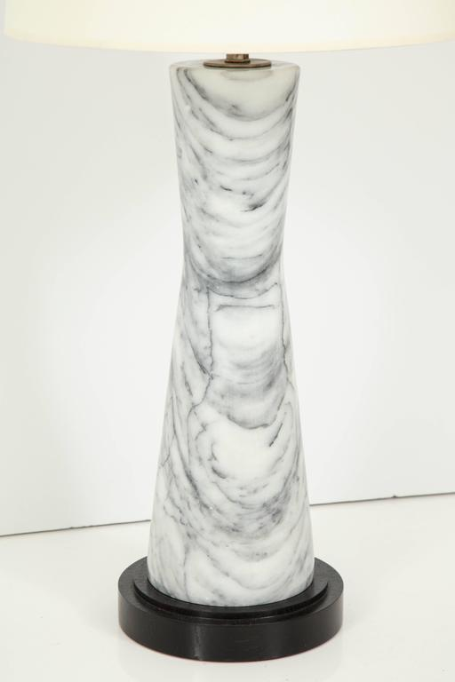 Grey Marble Table Lamp For Sale 1