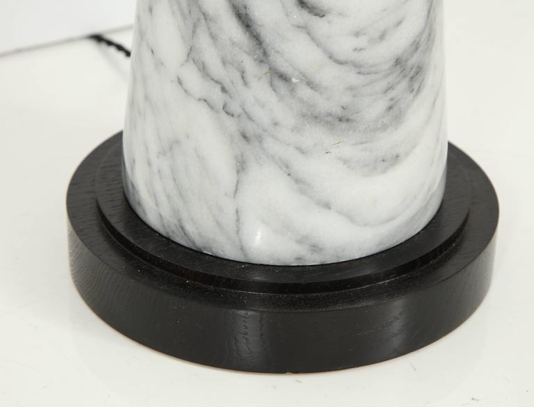 Grey Marble Table Lamp For Sale 2