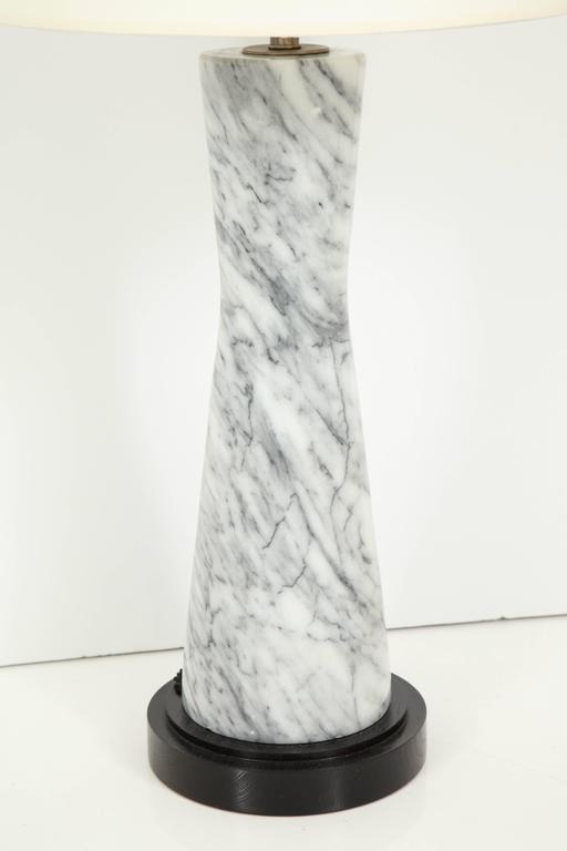 Grey Marble Table Lamp For Sale 4