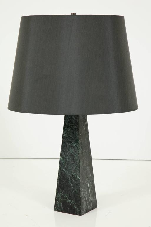 Marble Obelisk Table Lamp In Good Condition For Sale In New York, NY
