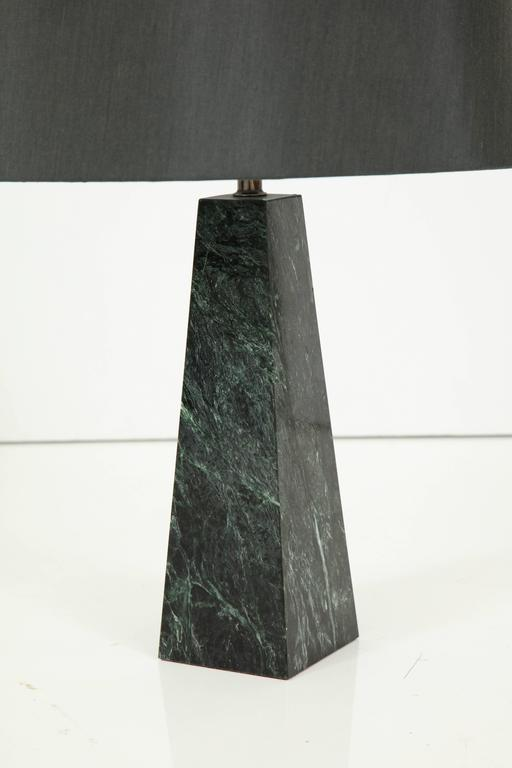 Mid-20th Century Marble Obelisk Table Lamp For Sale