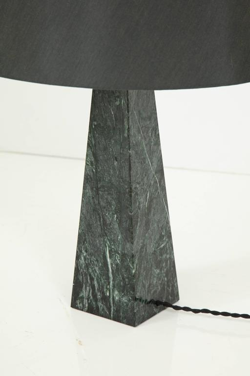 Bronze Marble Obelisk Table Lamp For Sale