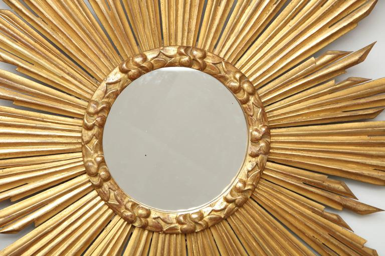 "French Giltwood ""Soleil"" Mirror For Sale 1"