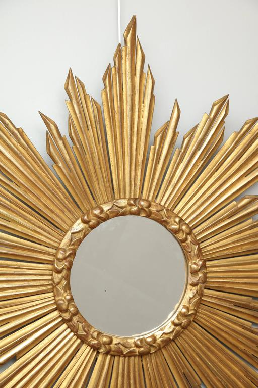 "French Giltwood ""Soleil"" Mirror For Sale 2"