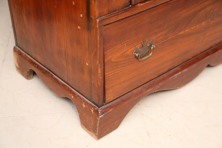Superb 1800's  American Pewter Cupboard For Sale 4