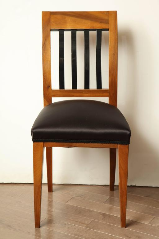 Austrian walnut side chair.