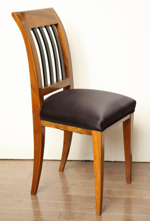 19th Century Austrian Walnut Side Chair For Sale