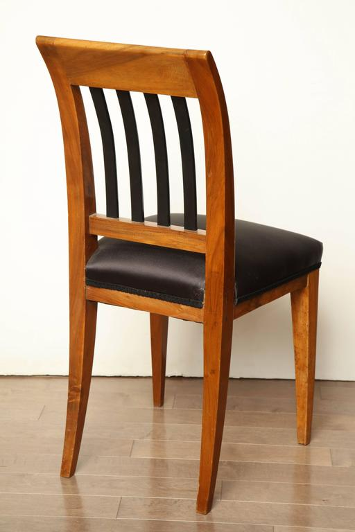 Austrian Walnut Side Chair For Sale 1