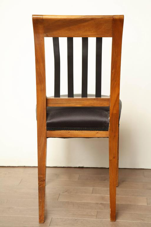 Austrian Walnut Side Chair For Sale 2