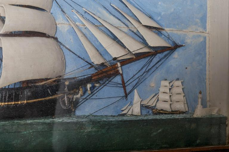19th Century French Ship Diorama At 1stdibs