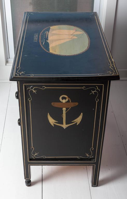 Hand Painted Nautical Eagle Chest Of Drawers At 1stdibs