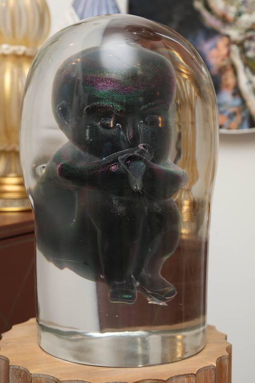 Bizarre Murano Glass Encased Fetus 4