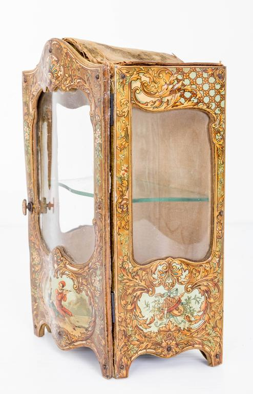 French Late 18th Century Miniature Curio Cabinet For Sale