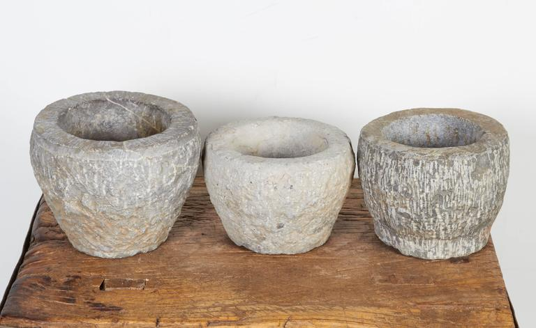 Finely Carved Chinese Stone Mortars For Sale 3