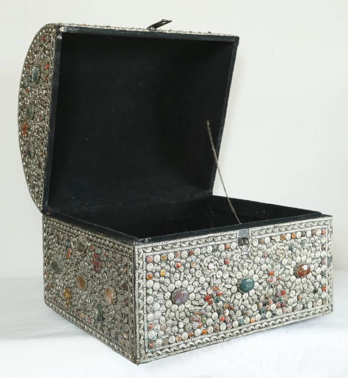 20th Century Large Moroccan Treasure Chest For Sale