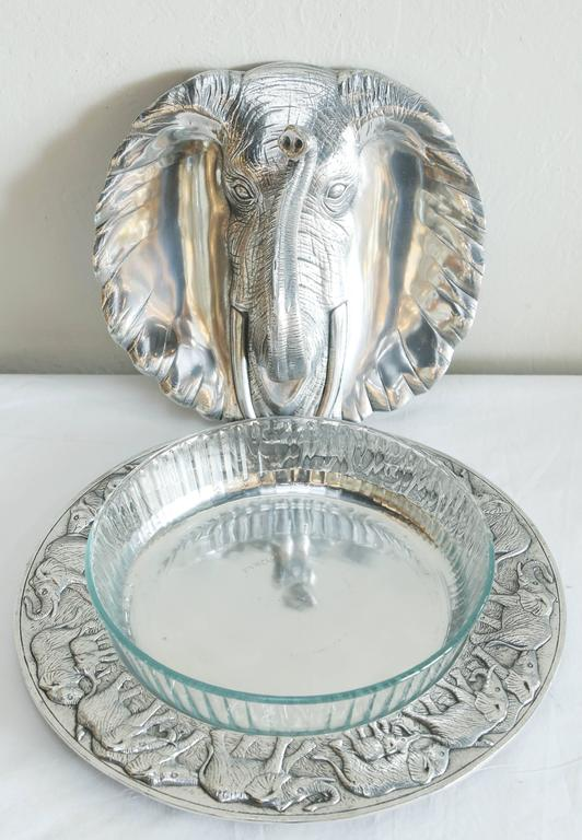 Arthur Court Elephant Casserole And Platter At 1stdibs