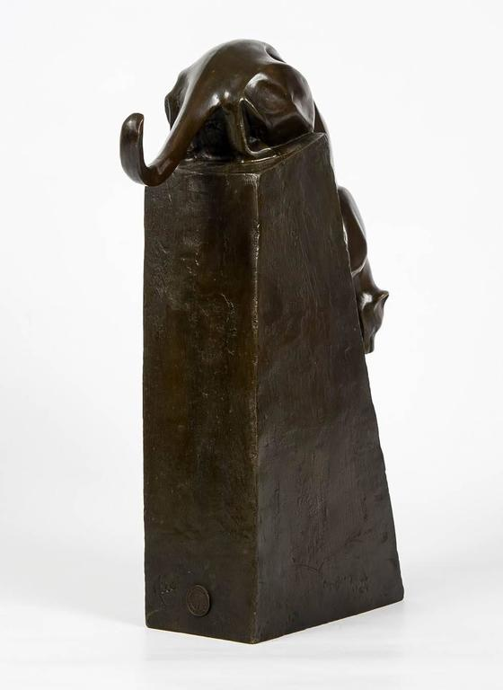 """Sculpture """"Panthère Descendant Un Rocher"""" in Bronze by Milo, circa 1930 5"""