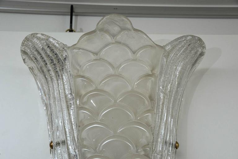 Pair of Murano Glass Wall Sconces For Sale 1