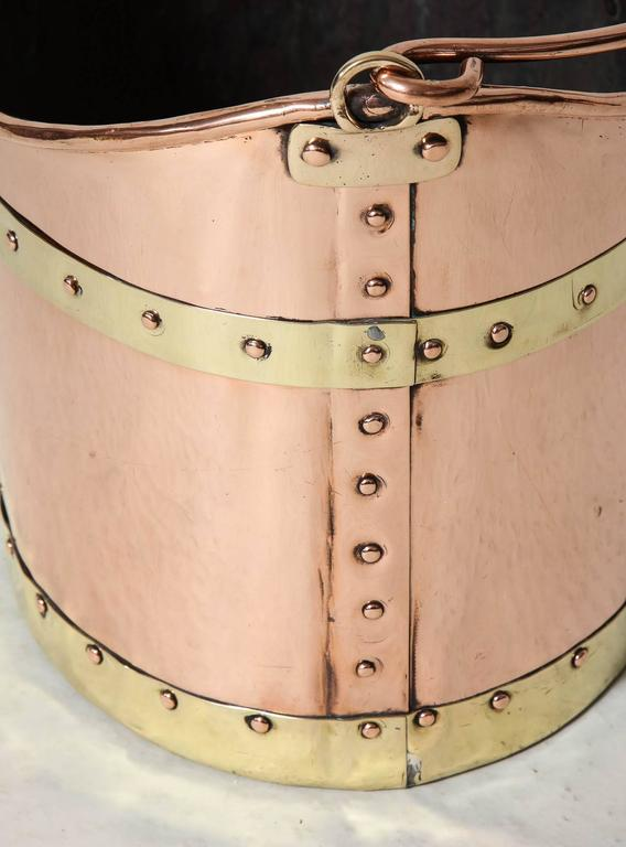 Unusual Boat Shaped Copper Bucket For Sale 2