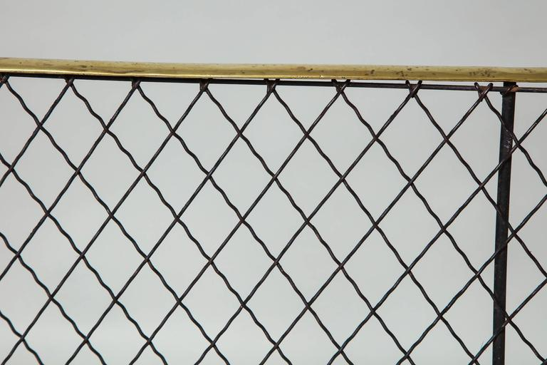 Folding Brass Rail Screen 2
