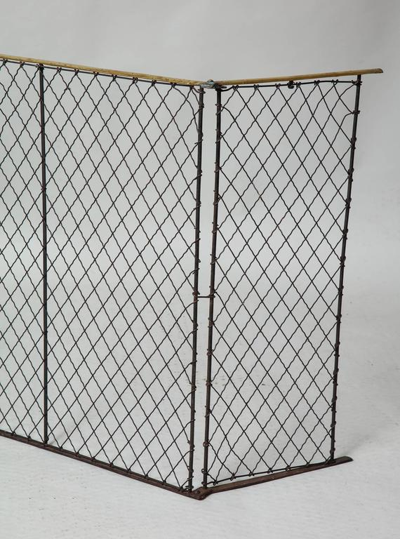 Folding Brass Rail Screen 4