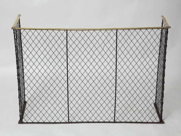 Folding Brass Rail Screen 6
