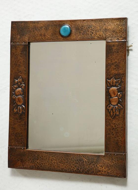 Arts & Crafts Copper Mirror 2
