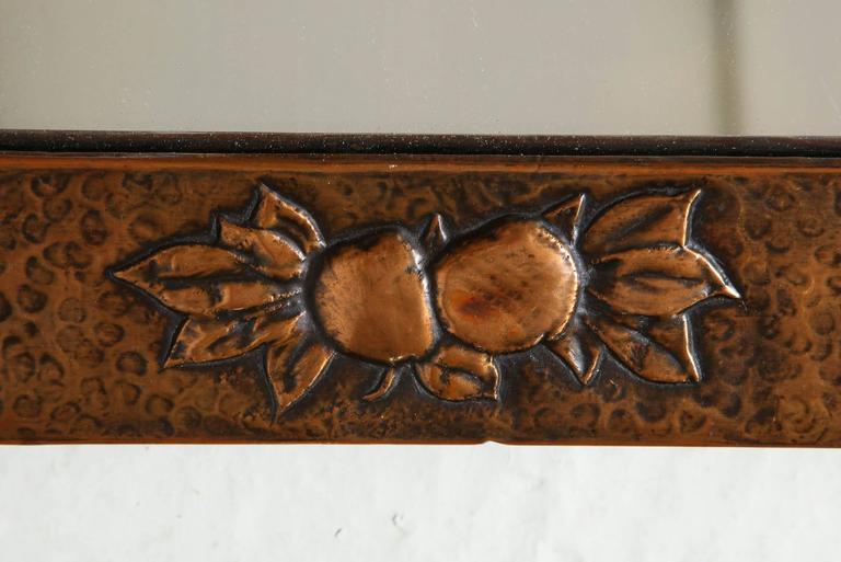 Arts & Crafts Copper Mirror 4