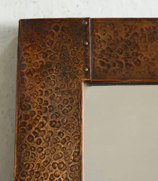 Arts & Crafts Copper Mirror 5
