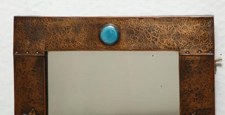 Arts & Crafts Copper Mirror 6