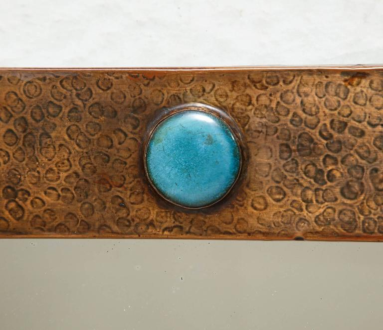 Arts & Crafts Copper Mirror 7