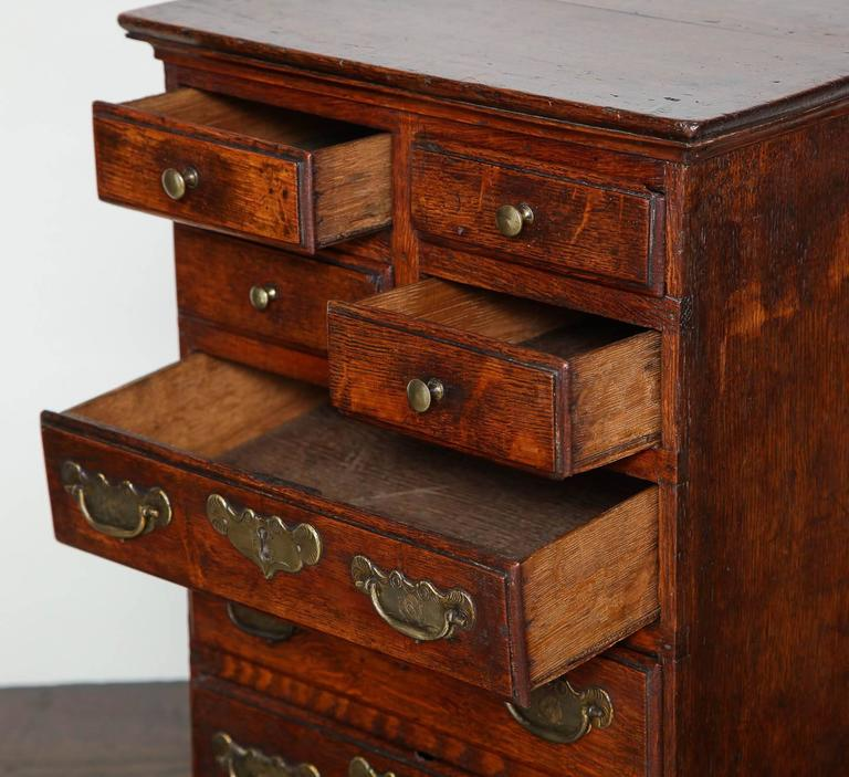 Rare Miniature Welsh Tall Chest In Excellent Condition For Sale In New York, NY
