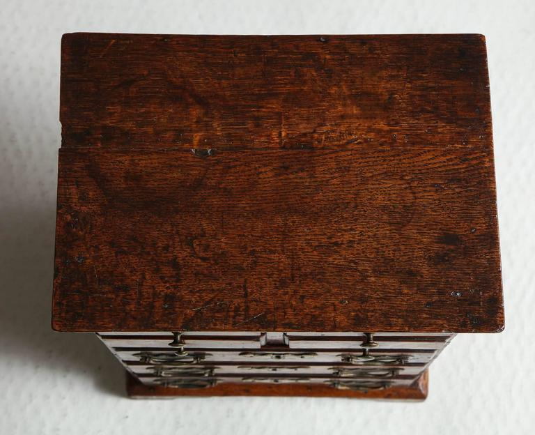 Rare Miniature Welsh Tall Chest For Sale 2