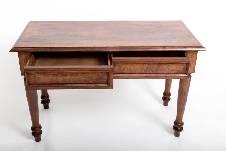 19th Century English Mahogany Serving Table For Sale 1