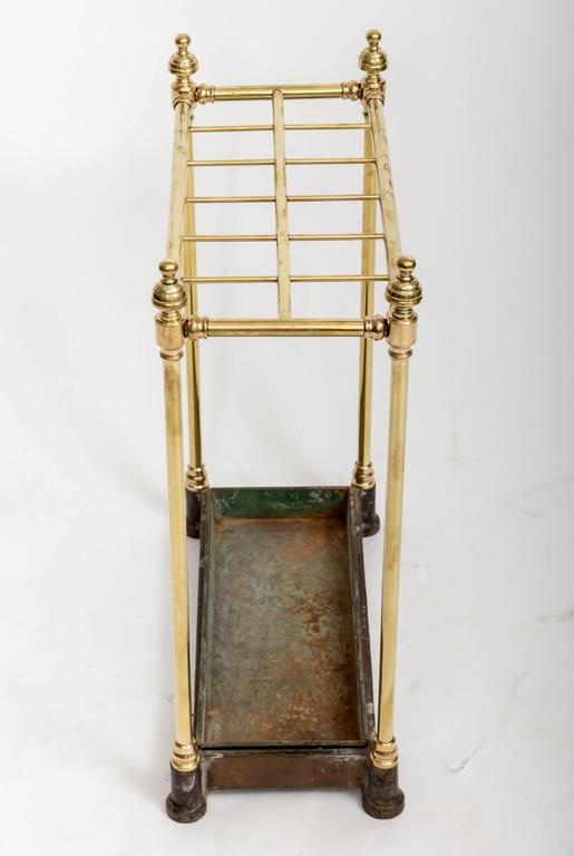 English 19th Century Brass Umbrella Stand, England, circa 1860 For Sale