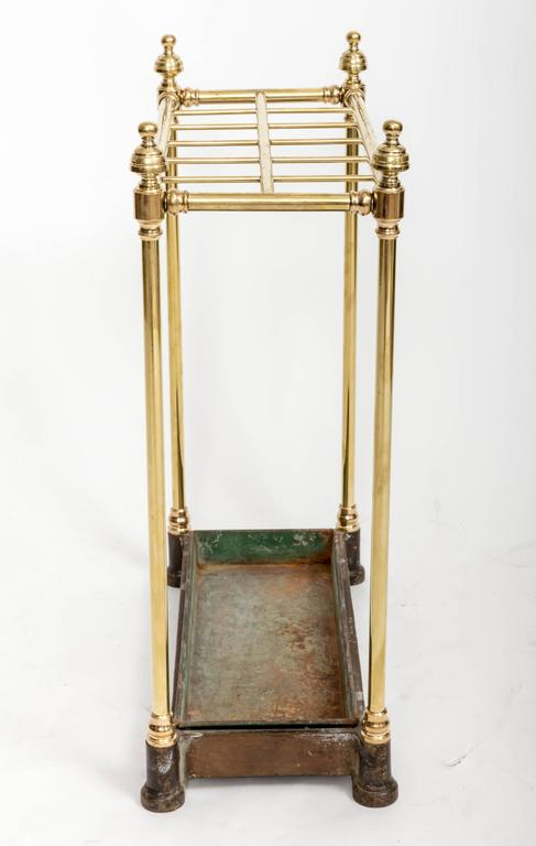19th Century Brass Umbrella Stand, England, circa 1860 In Good Condition For Sale In East Hampton, NY