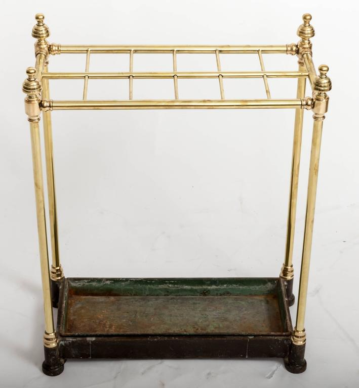 Mid-19th Century 19th Century Brass Umbrella Stand, England, circa 1860 For Sale