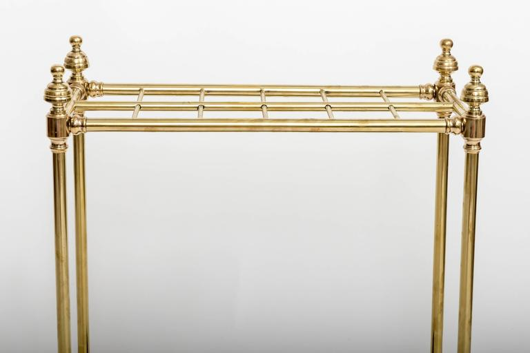 19th Century Brass Umbrella Stand, England, circa 1860 For Sale 2