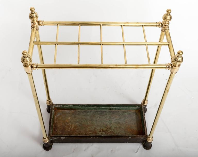 19th Century Brass Umbrella Stand, England, circa 1860 For Sale 3