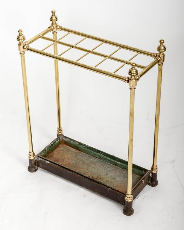 19th Century Brass Umbrella Stand, England, circa 1860 For Sale 4