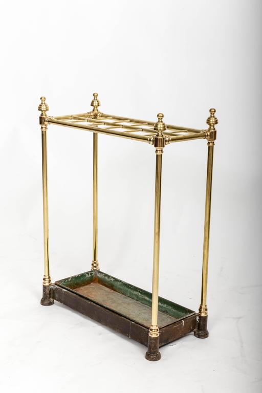 19th Century Brass Umbrella Stand, England, circa 1860 For Sale 5