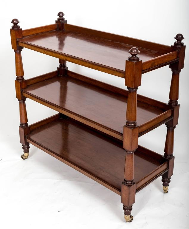 19th Century Mahogany Three-Tier Trolley or Étagère, England, circa 1860 3