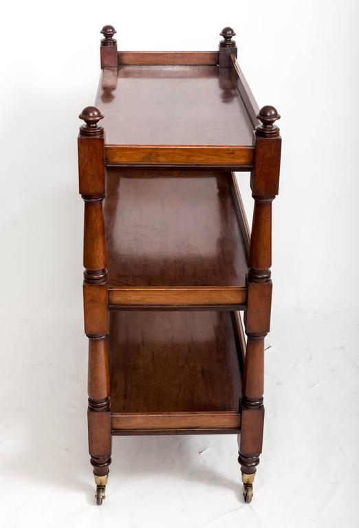 19th Century Mahogany Three-Tier Trolley or Étagère, England, circa 1860 4