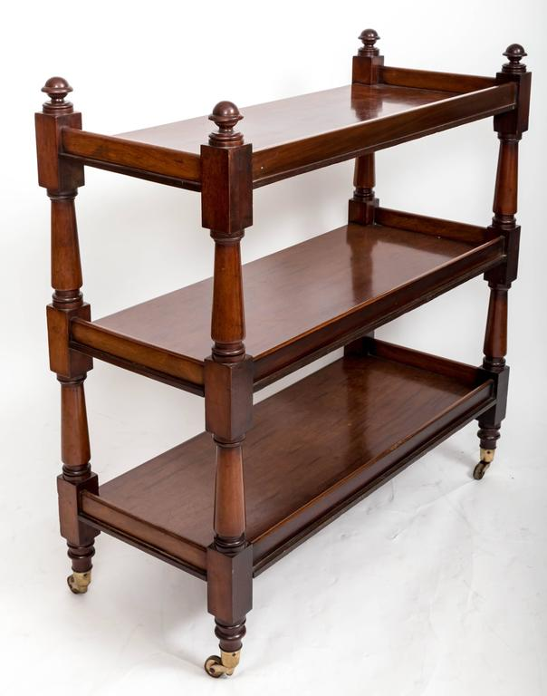 19th Century Mahogany Three-Tier Trolley or Étagère, England, circa 1860 5