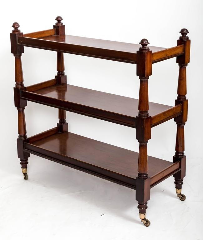 19th Century Mahogany Three-Tier Trolley or Étagère, England, circa 1860 7