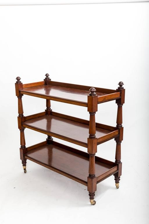 19th Century Mahogany Three-Tier Trolley or Étagère, England, circa 1860 9