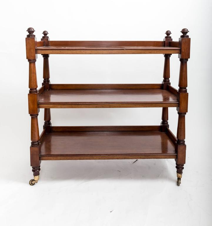 19th Century Mahogany Three-Tier Trolley or Étagère, England, circa 1860 10