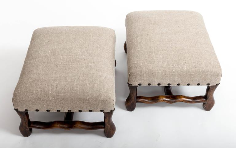 Pair of Turn-of-the-Century Hassocks, France, circa, 1900 2