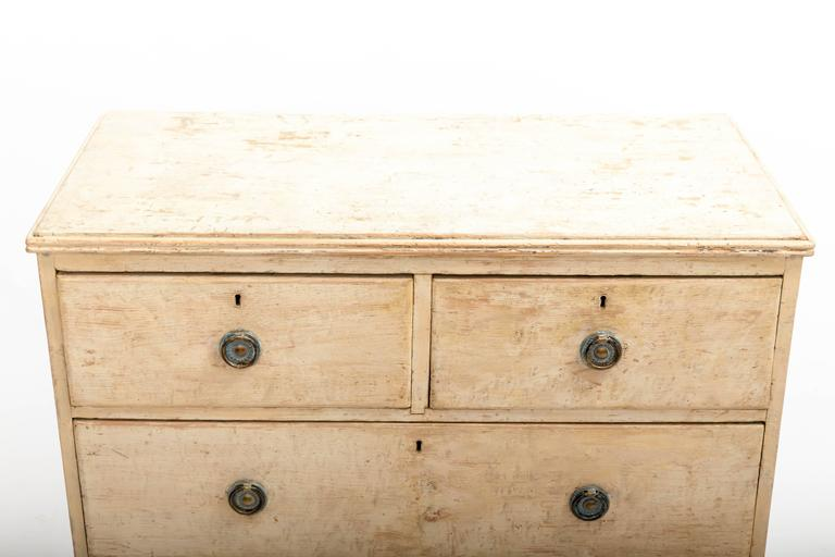 Early 19th Century Painted Chest Original Paint, England, circa 1840 3